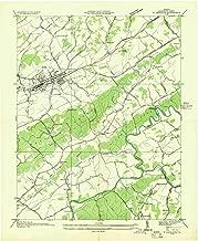 YellowMaps Abingdon VA topo map, 1:24000 Scale, 7.5 X 7.5 Minute, Historical, 1935, 26.9 x 22 in