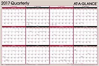 AT-A-GLANCE Yearly Wall Planner Calendar 2017, Erasable, Reversible, Quarterly, 36 x 24