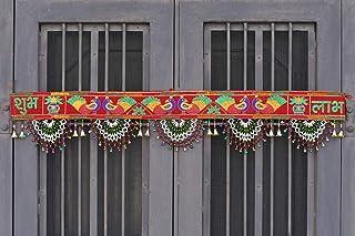 CraftVatika Traditional Toran Bandarwal Door Hanging Main Door Shubh Labh Wall Hanging Fancy Toran Diwali Puja Pooja Mandi...