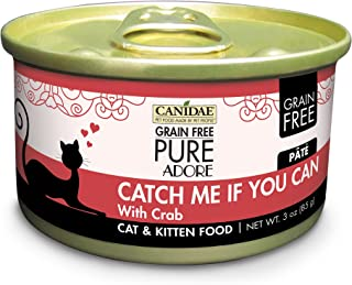 Canidae Grain Free Pure Adore: Catch Me If You Can Cat Wet Food With Crab, 3 Oz (18-Pack)