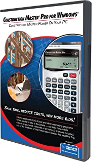 Calculated Industries 4111 Construction Master Pro Software (CD) for Windows   Calculates Construction Math on Your PC   Estimates and Layouts as Handy Pop-up Program
