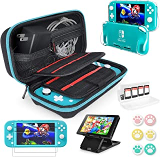 Switch Lite Accessories Bundle kit - Case & Screen Protector for Nintendo Switch Lite Console, Table Stand, Games Holder, ...