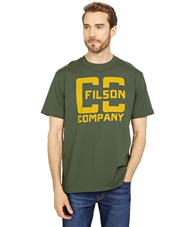 Filson Short Sleeve Pioneer Graphic T-Shirt (Fast Track) (Dark Forest (Cc)) Men