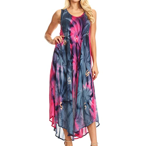 62d589e4 Sakkas Womens Starlight Caftan Tank Dress/Cover Up