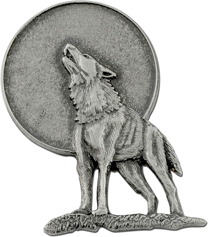 StockPins Wolf Howling At Moon Lapel Pin