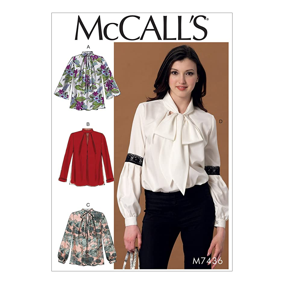 McCall Patterns M7436E50 Misses' Notch-Neck Sleeve and Neckband Variations Tops