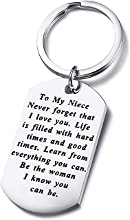 to My Niece Keychain Gift Inspirational Niece Gifts from Aunt Uncle Never Forget That I Love You Encouragement Gifts