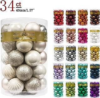 KI Store Christmas Balls Shatterproof Christmas Tree Ornaments Decorations for Xmas Trees Wedding Party Home Decor (1.57