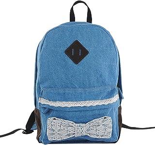 Minetom Damen Herren Vintage Modisch Casual Canvas Haltbare Segeltuch Taschen Reise Schultasche Rucksack