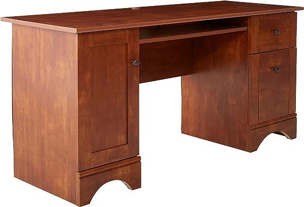 Sauder 402375 Computer Desk L 59 45 X W 23 47 X H 29 02 Brushed Maple Finish