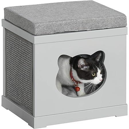 Trixie Natura Cat S Home Mit Balkon 45 65 45 Cm Grau Weiß Amazon Co Uk Pet Supplies