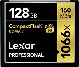 Lexar Professional 1066x 128GB VPG-65 CompactFlash card (Up to 160MB/s Read) LCF128CRBNA1066