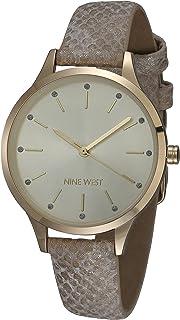 Nine West Women's Glitter Accented Patterned Strap Watch