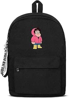 Men's Womens Steven-Universe-duck- Backpacks Casual Student Bag Black