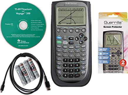 $99 » Texas Instruments TI 89 Titanium Graphing Calculator with Guerrilla Military Grade Screen Protector Set, Certified Reconditioned