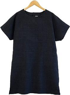 綿の郷 久留米ちぢみ織半袖チュニック 日本製