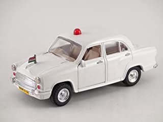 Centy Toys Classic Of Ambassador Car ( Moris Oxford)-Kidsshub 13.3 X 5.3 X 5 cm, Weight:100gms White - VIP Model