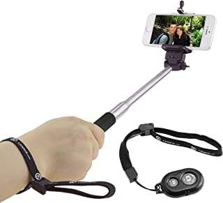 Selfie Stick with Bluetooth Remote for Smartphones – with Universal Phone Holder up..