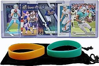 Miami Dolphins Cards: Ryan Tannehill, Frank Gore, Danny Amendola, Kiko Alonso, Xavien Howard ASSORTED Football Trading Card and Wristbands Bundle