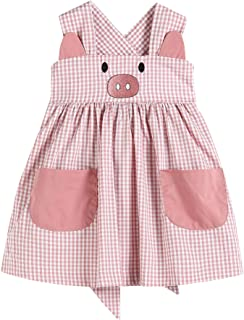 32216050092 A-Line Dress with Pig Detail Pink