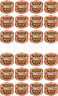 Rio Mare: Set of 12 Cans of Tuna Fish in Olive Oil, Yellowfin Tuna Quality Pack of 12, 80g (2.82oz) Each 960g (33.86oz) Total [ Italian Import ] (24 Pack)