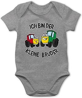 Shirtracer Geschwisterliebe Baby - Ich Bin der kleine Bruder Traktor - Baby Body Kurzarm für Jungen und Mädchen
