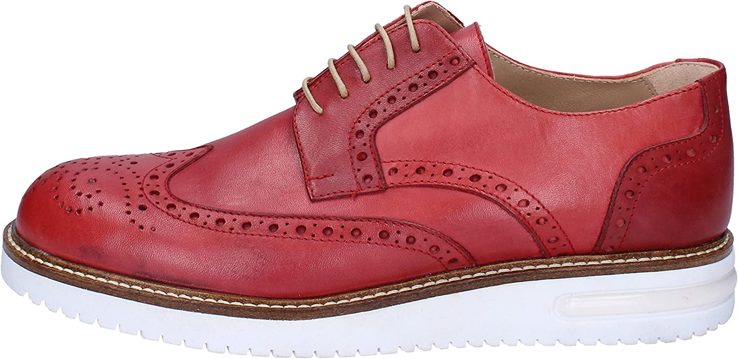 FDF SHOES Oxfords-shoes Mens Leather Red