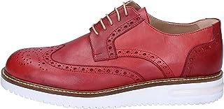 FDF zapatos Zapatos Elegantes Hombre Cuero Rojo