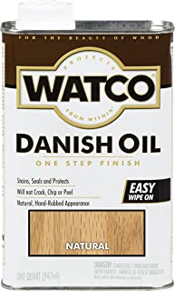 Watco Rust-Oleum A65741 Danish Oil Wood Finish, Quart, Natural