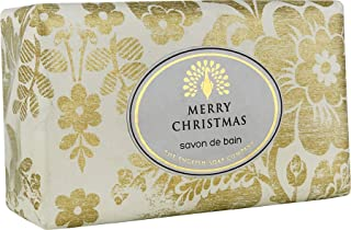 The English Soap Company, Vintage Wrapped Luxury Moisturising Shea Butter Hand Soap, Frosted Garden - Winter Flowers, 200g