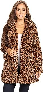 女士纯色豹纹休闲舒适长袖前开外套夹克
