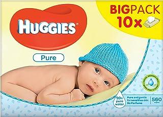 Huggies 2395100 Nawilżone Chusteczki dla Dzieci, 10x56 Sztuk, Biały
