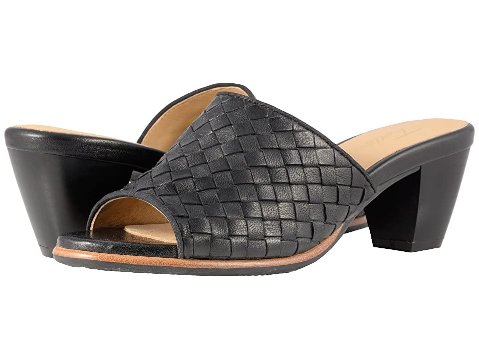 Trotters Corsa (Black Woven Leather) Women