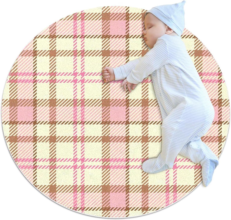 Plaid Fabric Patterns White Pink Pattern Floo Mat Ranking TOP19 Crawling Kids Ranking TOP8