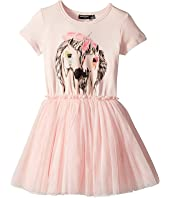 Rock Your Baby - Unicorn Love Short Sleeve Circus Dress (Toddler/Little Kids/Big Kids)