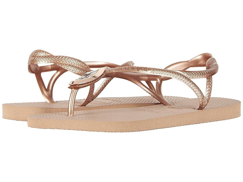 Havaianas Luna Special Flip Flops (Rose Gold/Rose Gold) Women