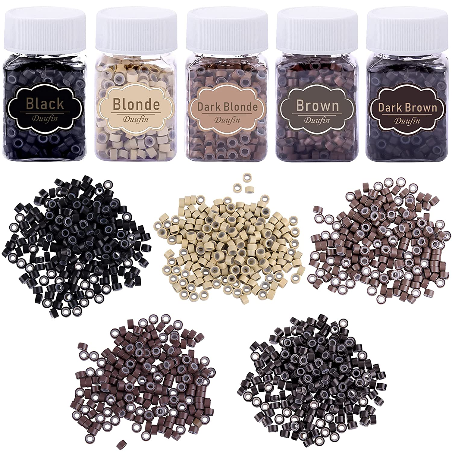 Duufin 2500 Max 45% OFF Pieces Micro Links Hair 5.0mm Rings Extentions Beads Ranking TOP14
