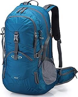 45L Mochila de Senderismo Impermeable Mochila Grande Mochila de Viaje para Acampar al Aire Libre Montañismo Trekking con Funda de Lluvia