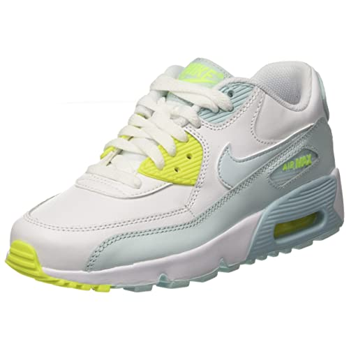 info for 33817 a3703 NIKE Youth Air Max 90 LTR Running Shoes-White Blue