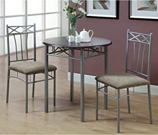 Amazon Com Silver Table Chair Sets Kitchen Dining
