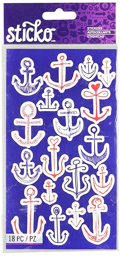 Sticko Classic Stickers, Doodle Anchors