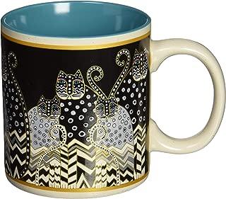 Laurel Burch 117474 Artistic Mug Collection, Polka Dot Gatos, One Size, Multicolor