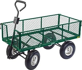 Draper 85634 Heavy Duty Steel Mesh Cart, Green, 129.5x65.5x15.2 cm