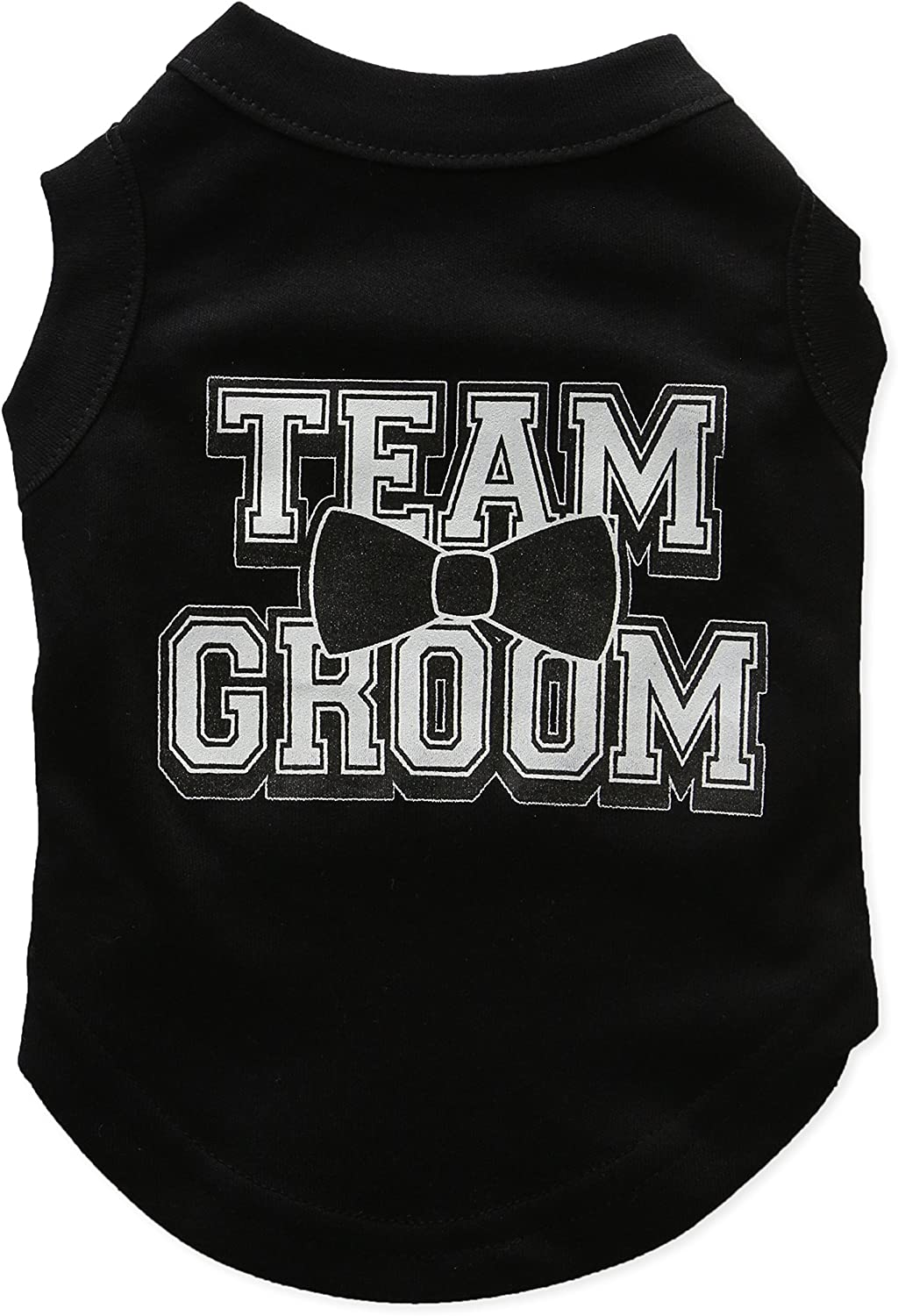 Mirage Pet Products 10Inch Team Groom Screen Print Shirt for Pets, Small, Black