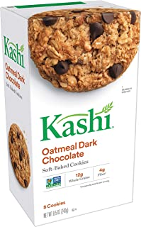 (Discontinued By Manufacturer) Kashi, Soft-Baked Cookies, Oatmeal Dark Chocolate, Non-GMO Project Verified, 8.5 Oz, 8 Count Per Pack(Pack of 3)