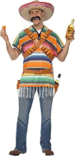 Smiffys Men's Tequila Shooter Guy Costume with Poncho Bandoliers Belt