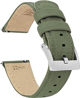 24mm Army Green Barton Sailcloth Quick Release Premium Nylon Weave