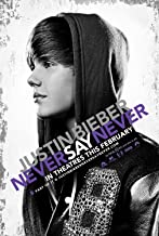 Justin Bieber Never Say Never Musical Live Original Double Sided 27x40 Movie Poster 2011