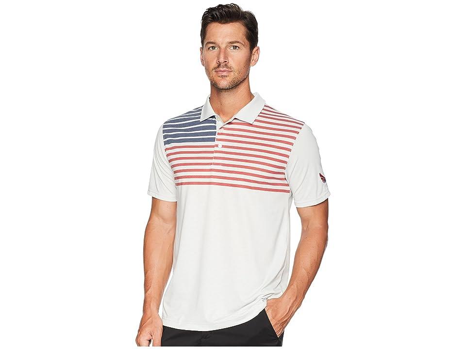 PUMA Golf Volition Patriot Polo (Light Grey Heather) Men