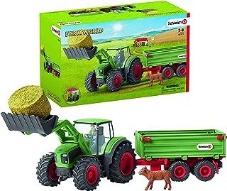 Schleich Farm World Tractor with Trailer